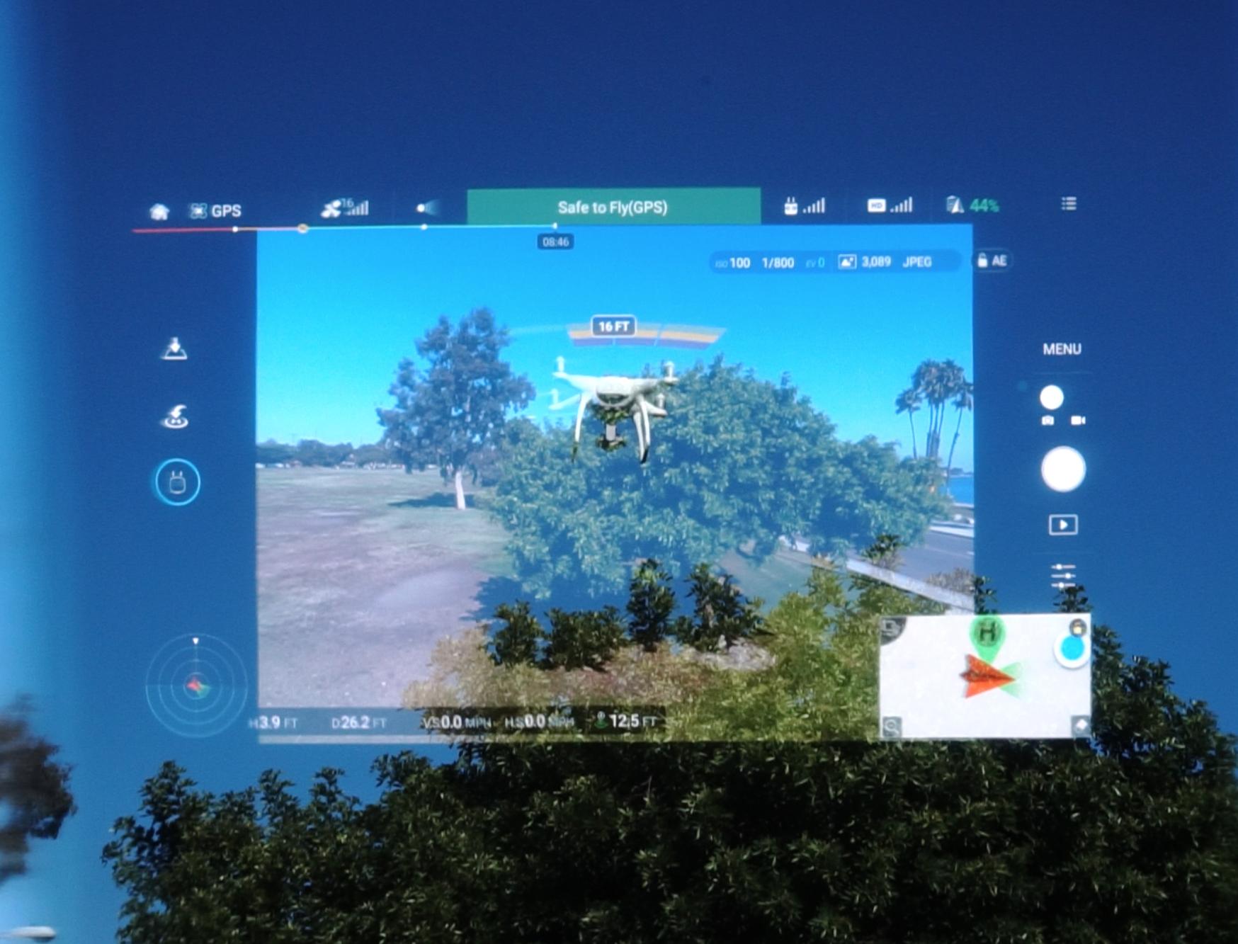 מסך השליטה ברחפני DJI באמצעות משקפי אפסון