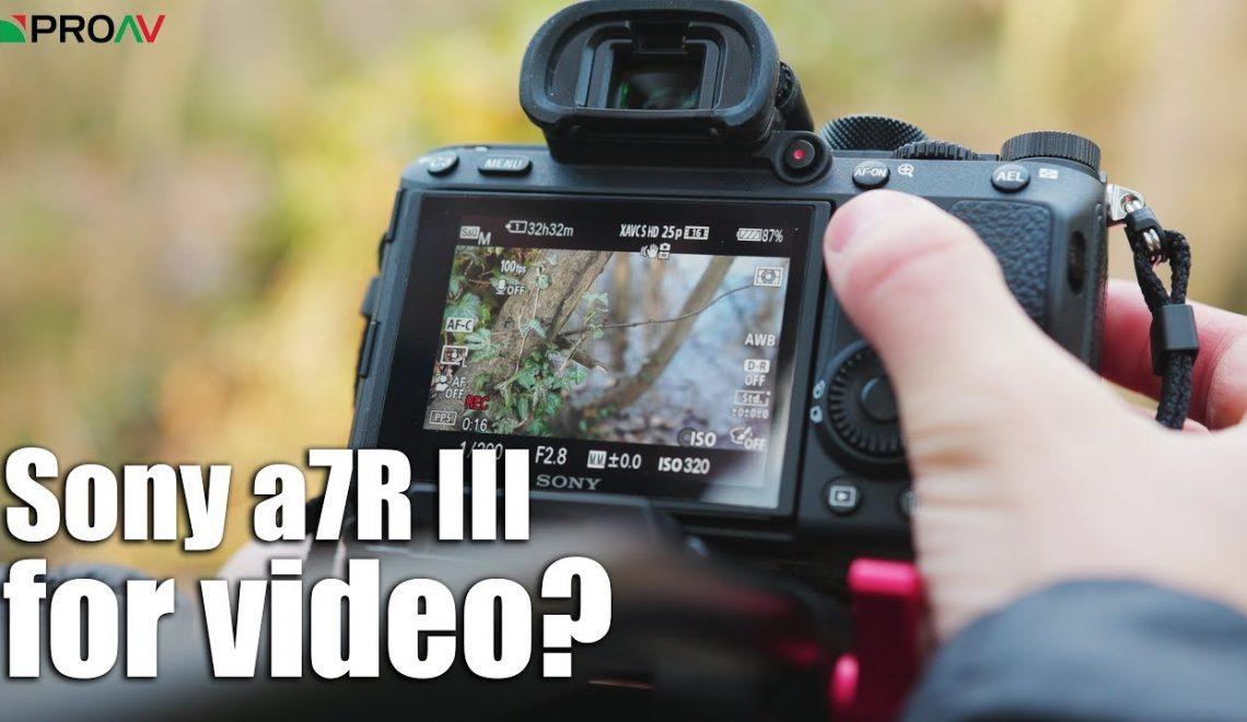 האם מצלמת A7r III טובה לוידאו?