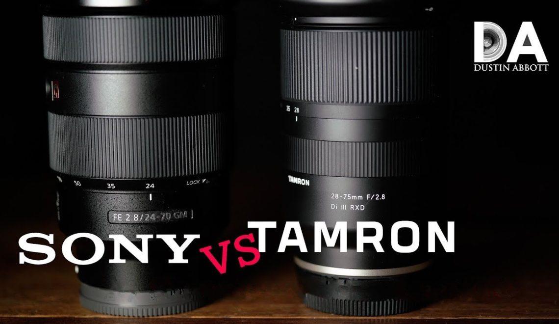 השוואה בין עדשת 28-75 של טמרון לסוני 24-70