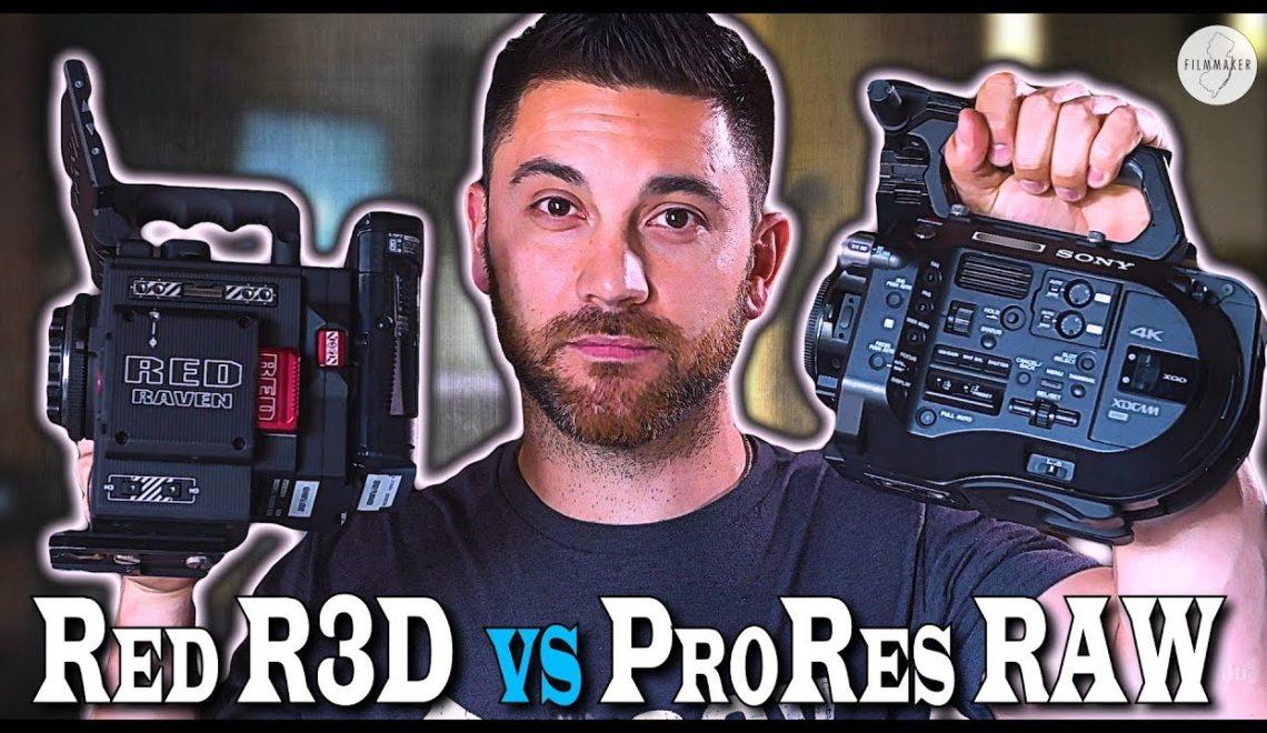 השוואה בין ProRes RAW ל- R3D של RED