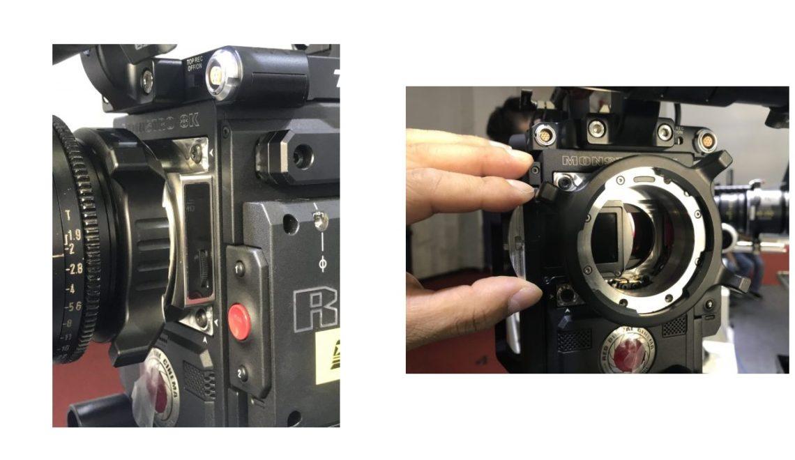 פילטר ND אלקטרוני משולב במתאם PL למצלמות RED