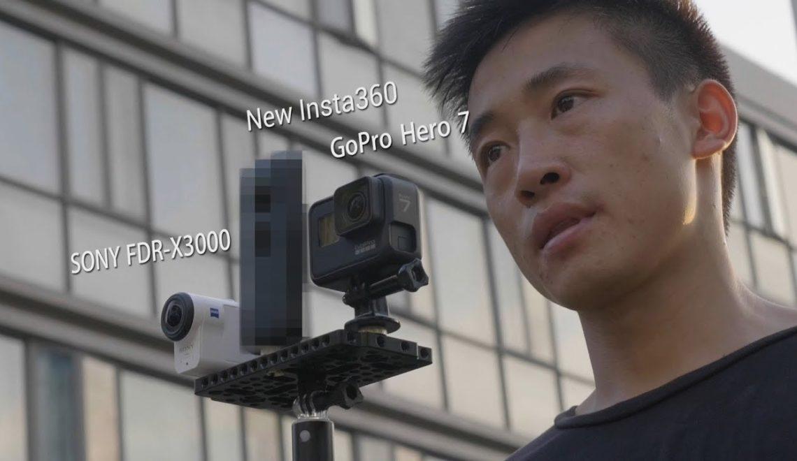 השוואה בין מערכות הייצוב במצלמת Insta360 למצלמות סוני וGoPro