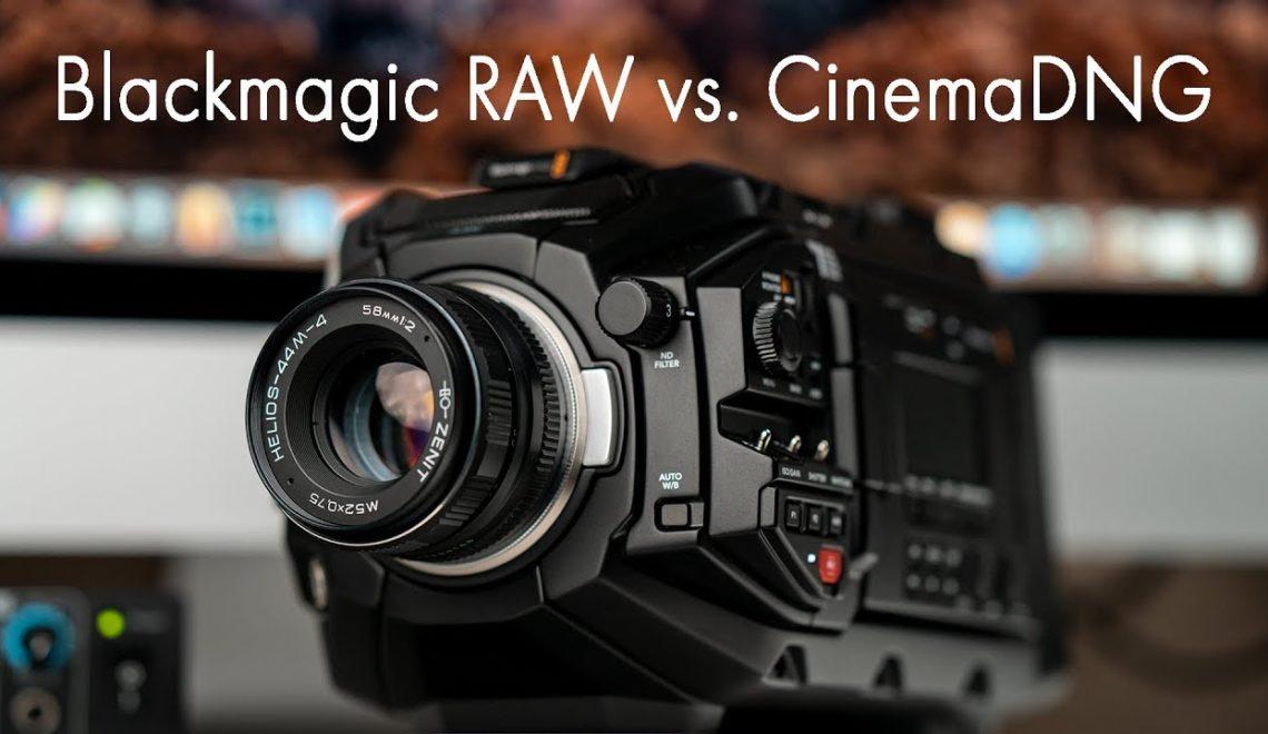 השוואת איכות חומרי הגלם בין BlackMagic RAW ו-CinemaDNG