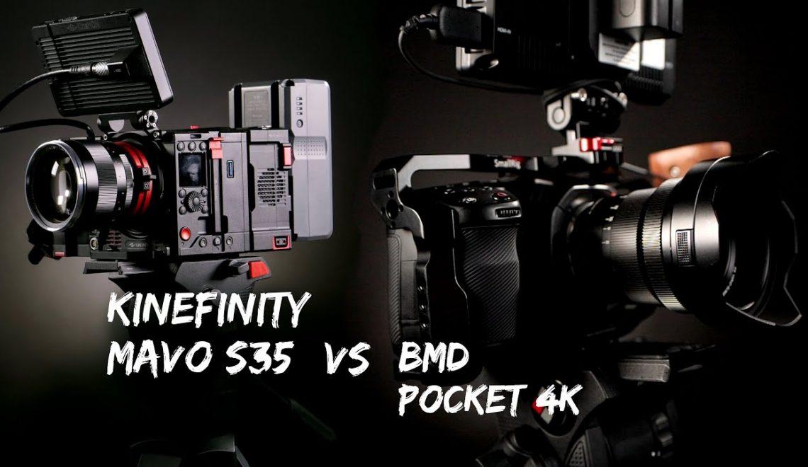 השוואה בין מצלמת הפוקט למצלמת Mavo S35