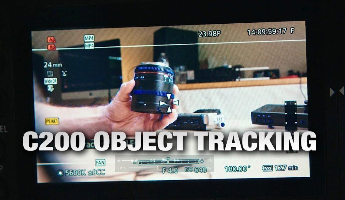 מעקב אחר אובייקט במצלמת C200