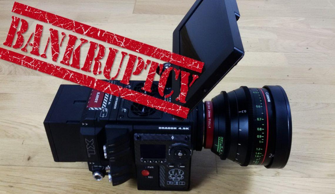 יצרנית מצלמת 8K פושטת רגל