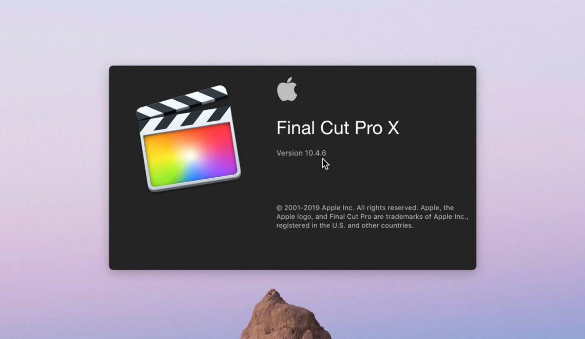 הושקה גרסה 10.4.6 של תוכנת FCPx