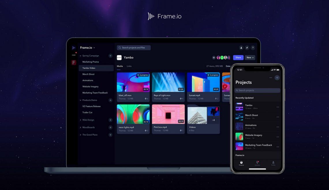 גרסה 10 לתוכנת שיתוף קובצי וידאו לפוסט Frame.io