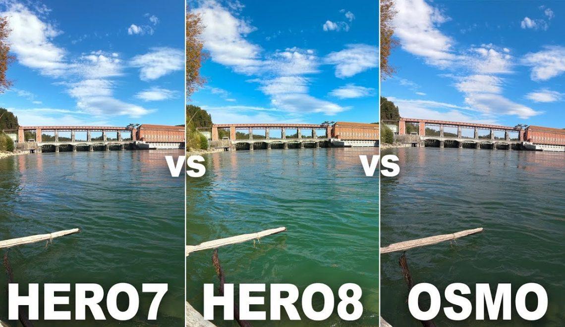 השוואה בין מצלמות אקשן
