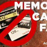 מניעת תקלות בכרטיסי זיכרון