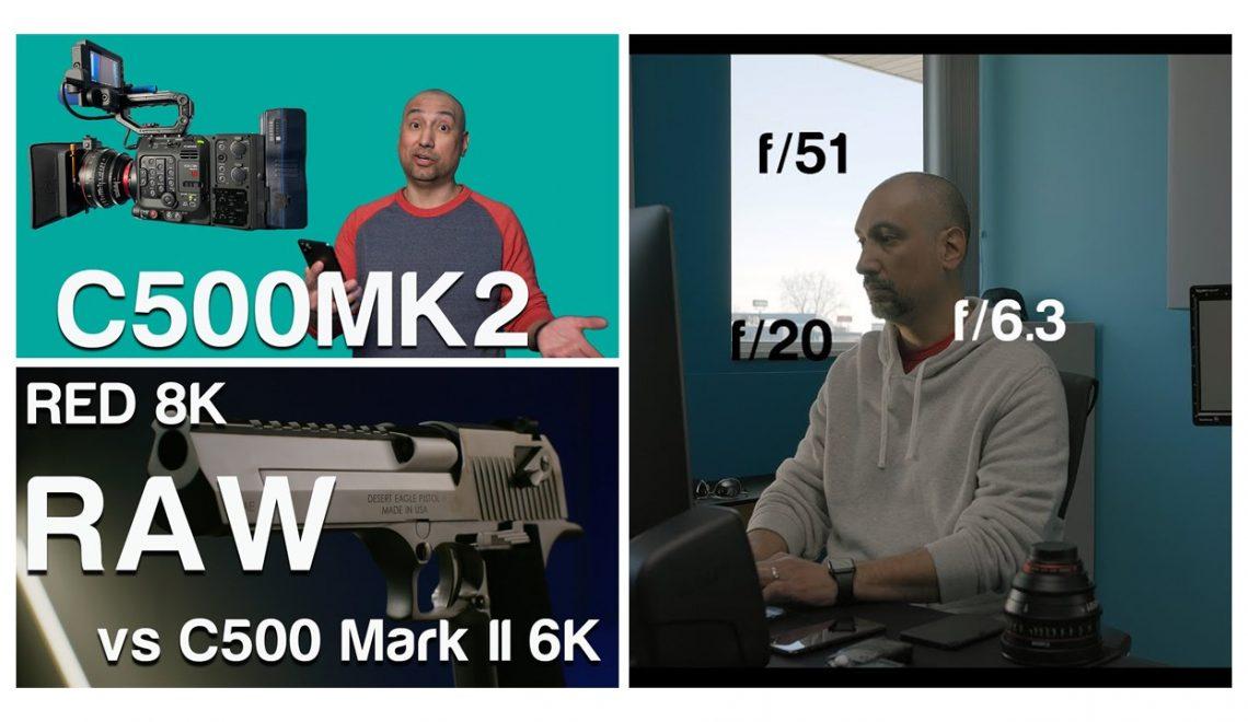 בדיקות של מצלמת C500 II והשוואות