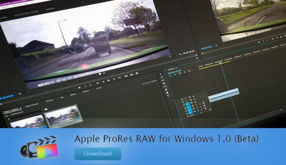 עריכה ProRes RAW בחלונות