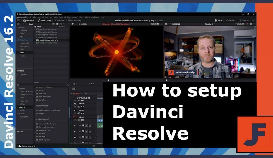 הגדרות של DaVinci Resolve