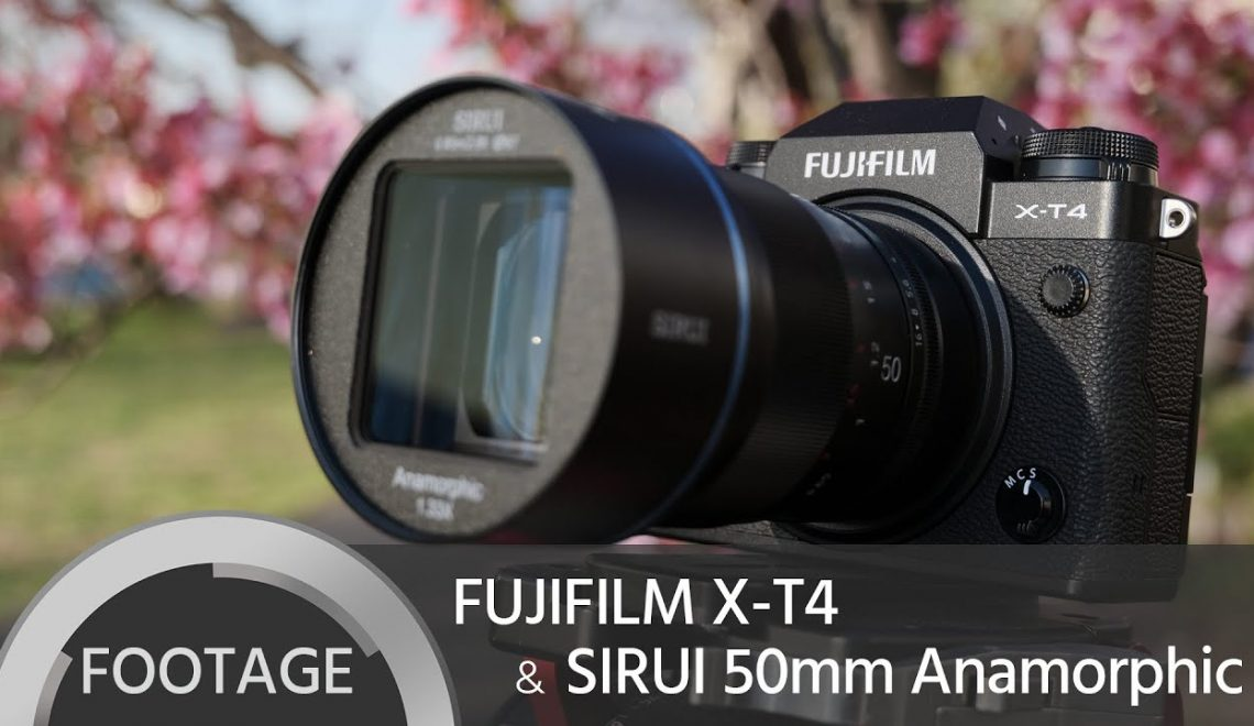 חומרי גלם של X-T4 עם עדשת Sirui