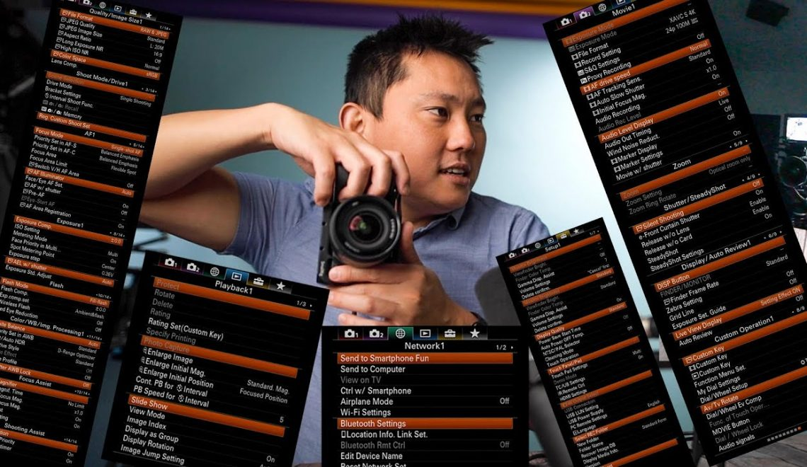הסבר על התפריטים של מצלמות סוני