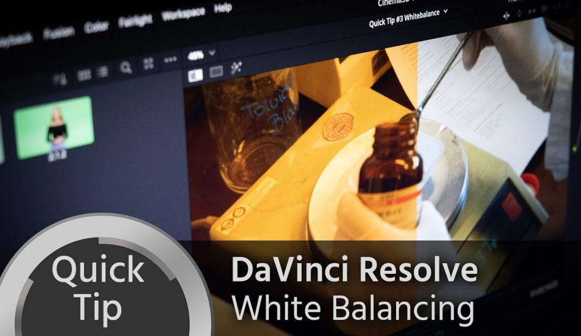 איזון לבן ב- DaVinci Resolve