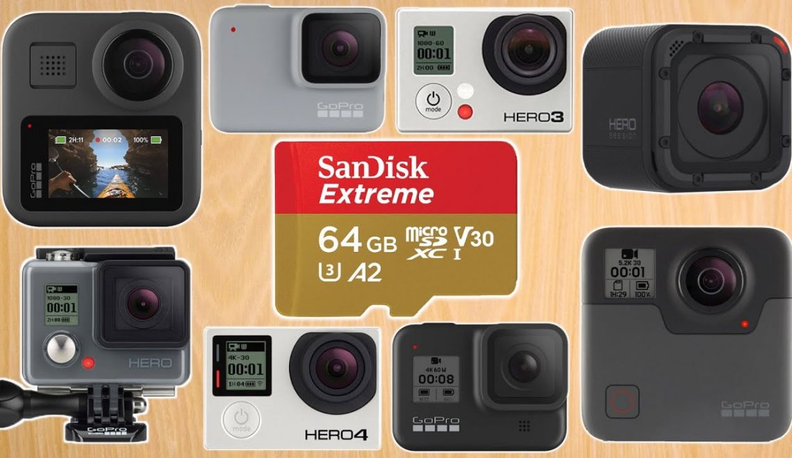 כרטיסי הזיכרון המתאמים למצלמות GoPro