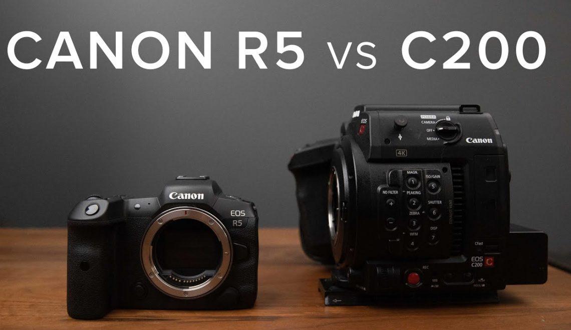 השוואה בין EOS C200 ל- EOS R5