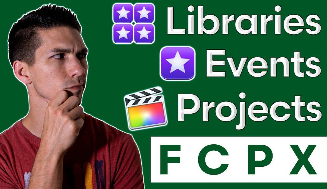 ארגון חומרי גלם ב-FCPx
