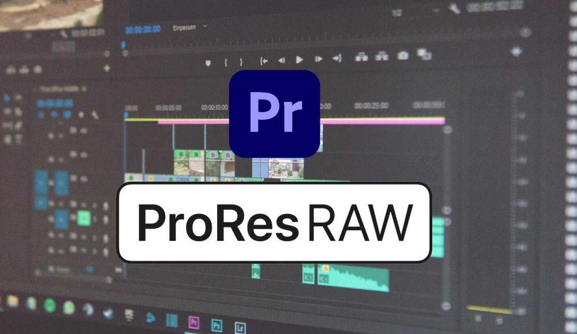 עריכת ProRes RAW בפרמייר ללא קידוד