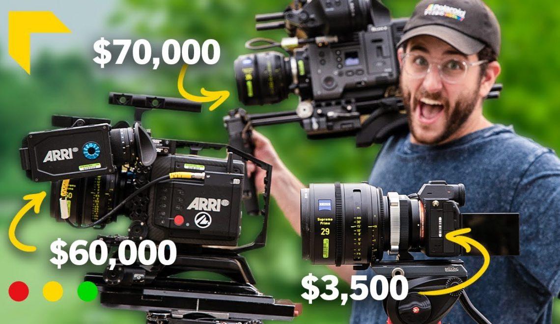 השוואה ביןA7S III למצלמות קולנוע