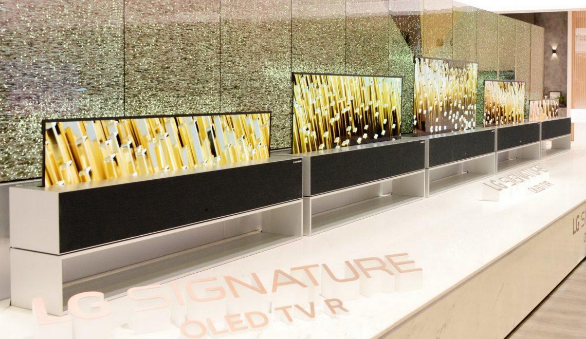 הטלוויזיה הנגללת של LG במכירה