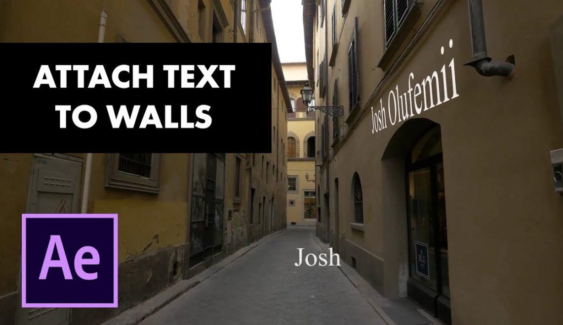 הצמדת טקסט לקיר ורצפה