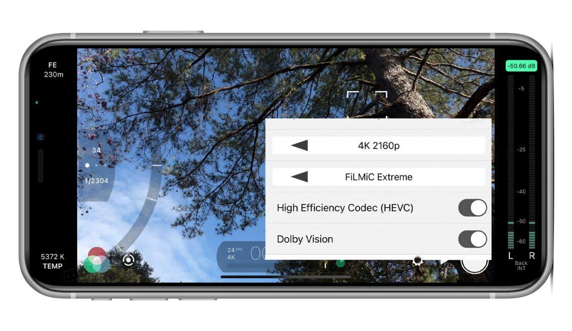 עדכון לתוכנת הצילום FiLMic Pro