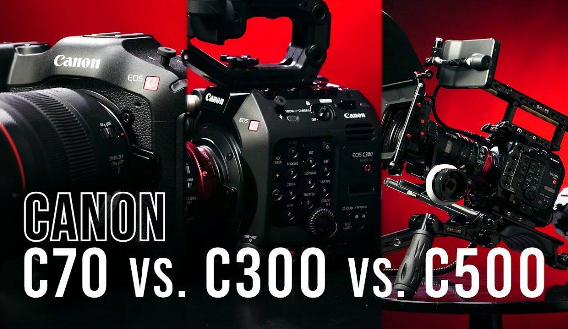 מצלמות הקולנוע של קנון – מפרטים