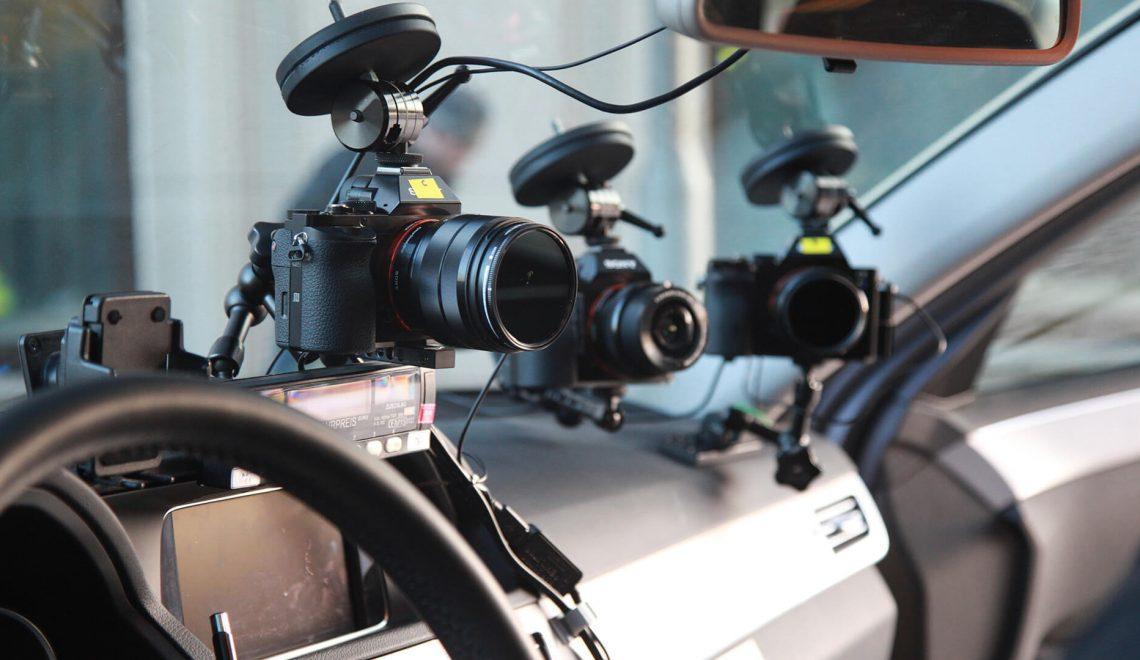 מתקון מצלמה לשמשה של רכב