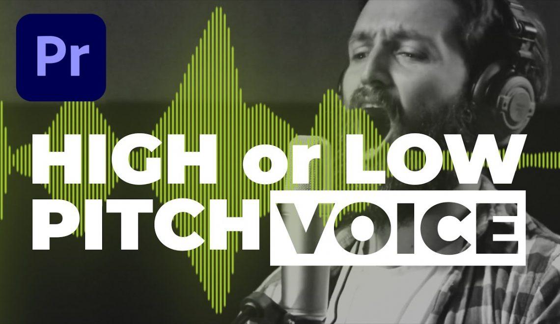 שינוי גובה הצליל בפרמייר פרו
