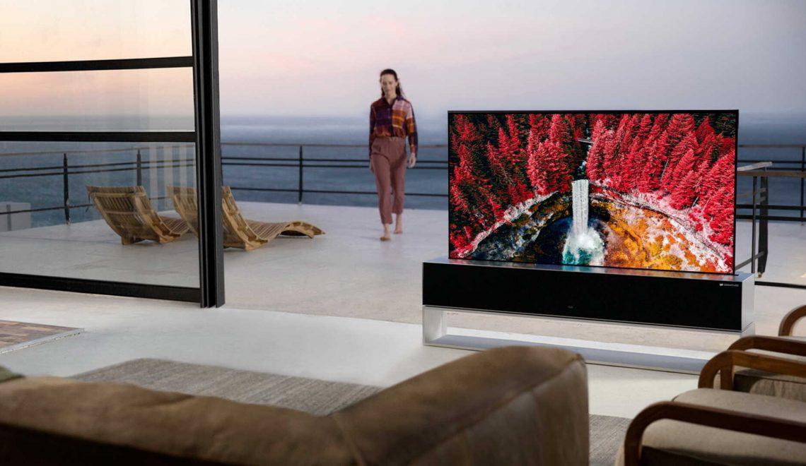הושקה הטלוויזיה המתגלגלת של LG