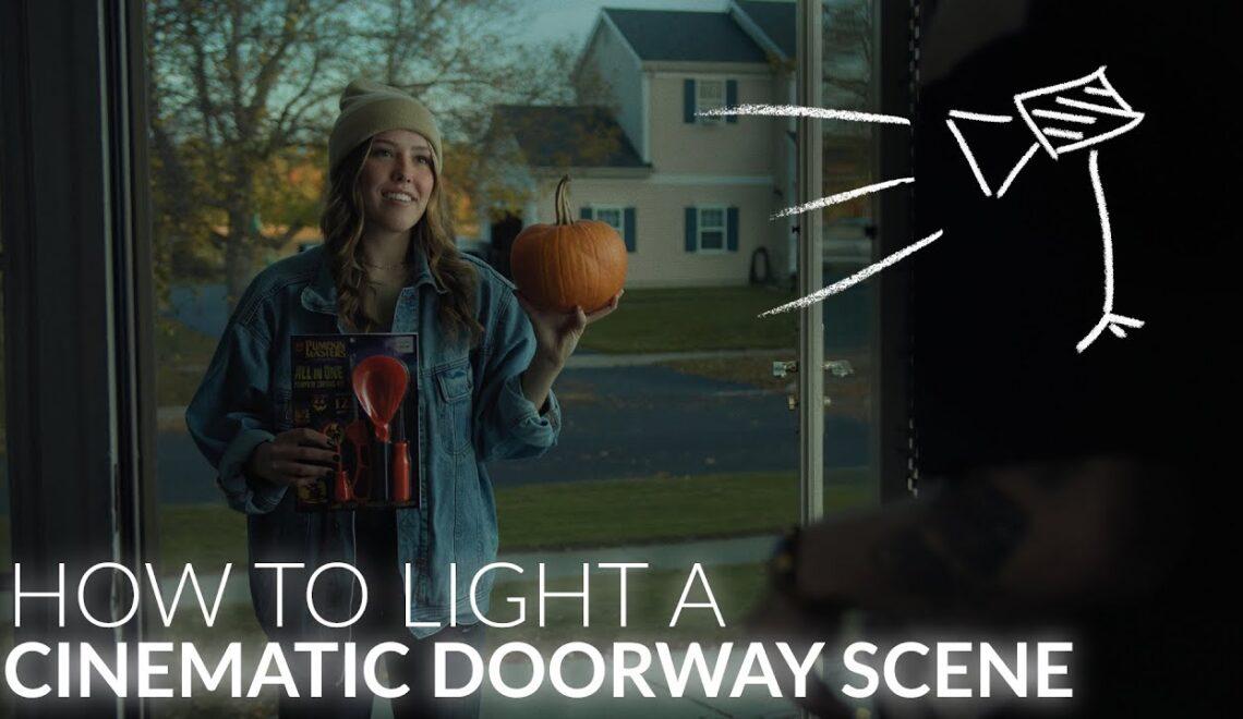 תאורה לצילום דרך הדלת
