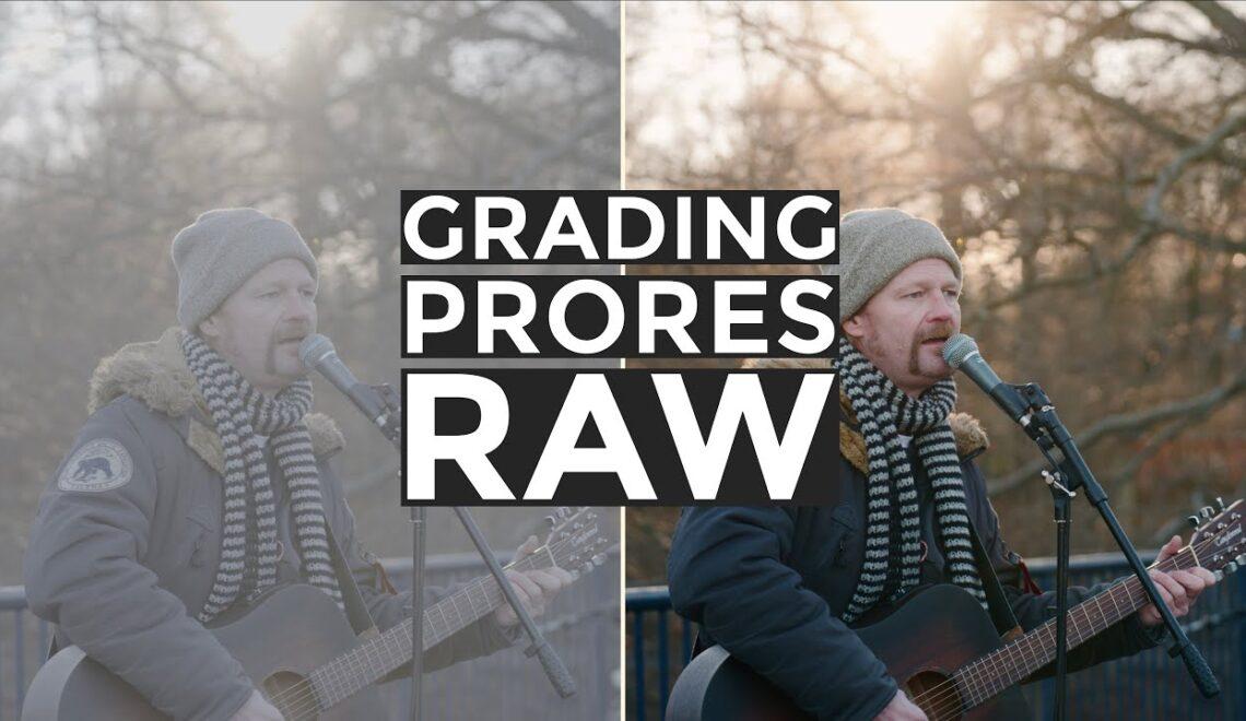 עיבוד צבע ל ProRes RAW בפעם הראשונה